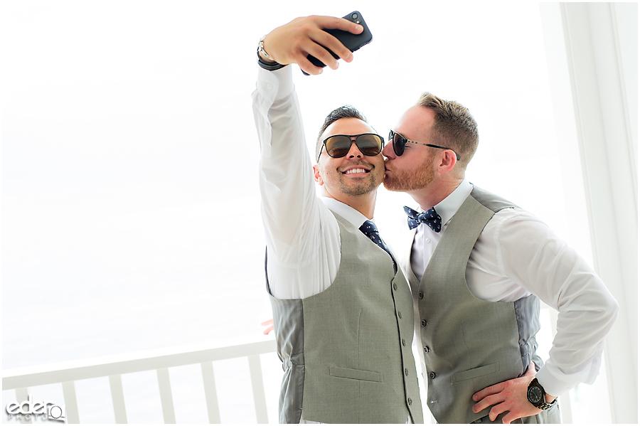 Laguna Beach Wedding - selfie