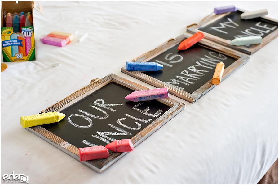 Laguna Beach Wedding - chalk board sign
