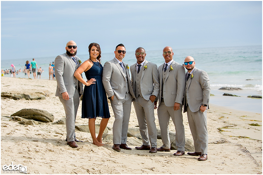 Laguna Beach Wedding - wedding party on beach