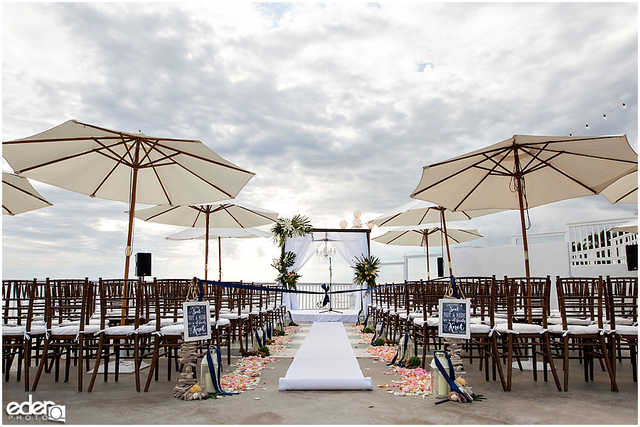 Laguna Beach Wedding ceremony at Occasions - details