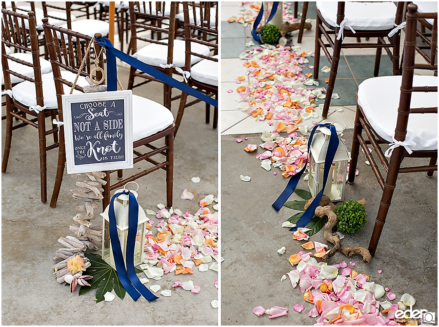 Laguna Beach Wedding ceremony at Occasions - decor details