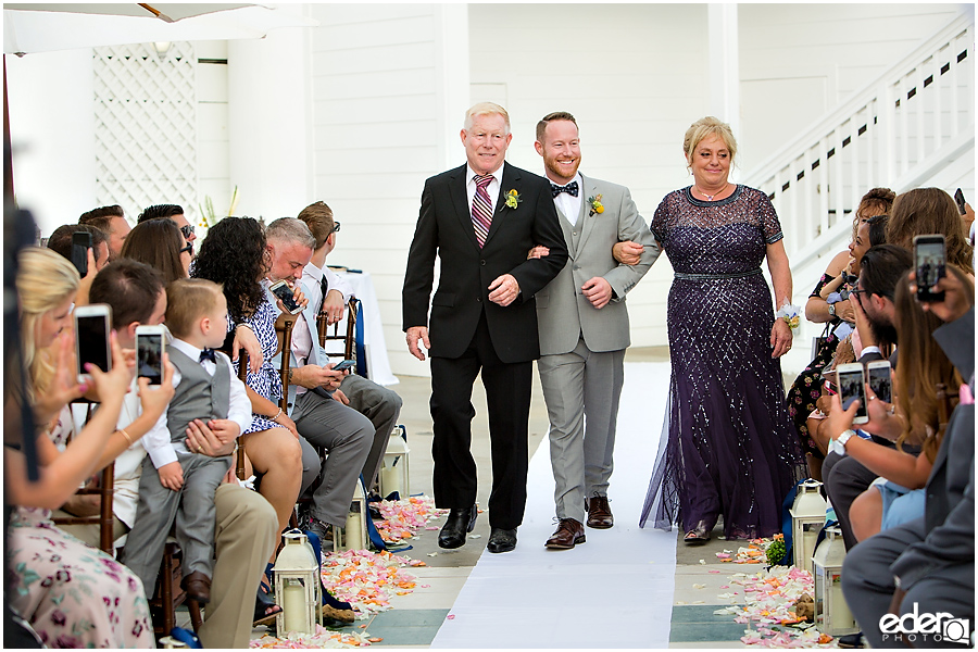 Laguna Beach Wedding ceremony at Occasions - processional
