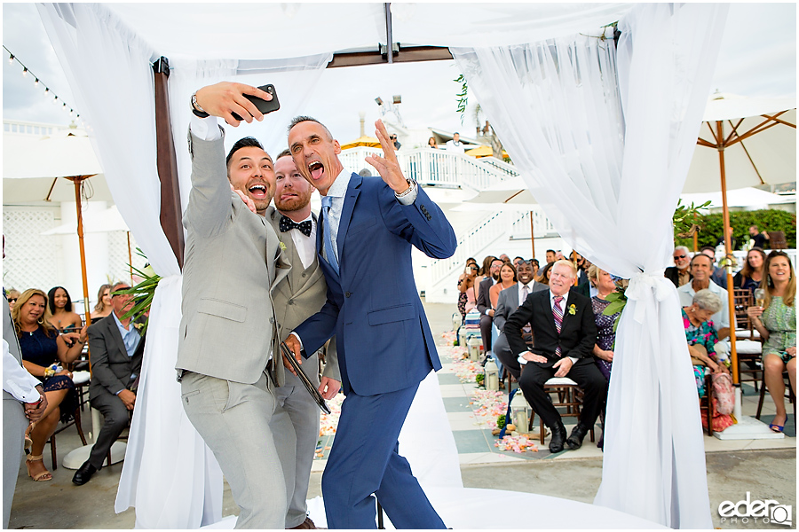 Laguna Beach Wedding ceremony at Occasions - selfie