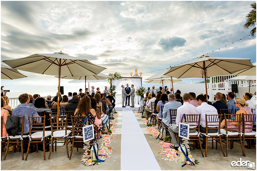 Laguna Beach Wedding ceremony at Occasions - wide view