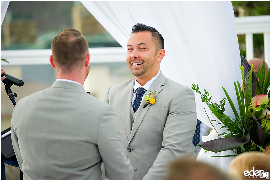 Laguna Beach Wedding ceremony at Occasions - two grooms