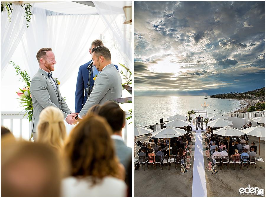 Laguna Beach Wedding ceremony at Occasions - beach view