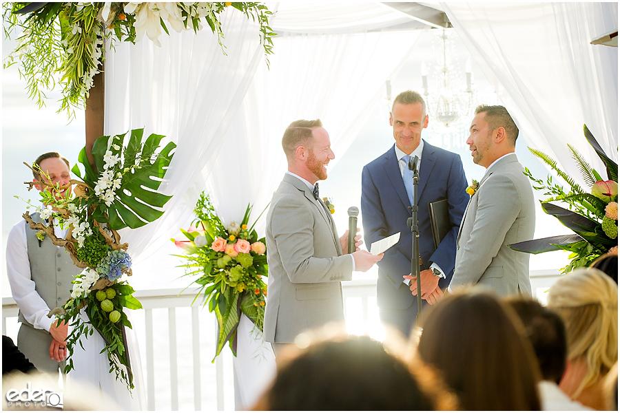 Laguna Beach Wedding ceremony at Occasions - vow exchange