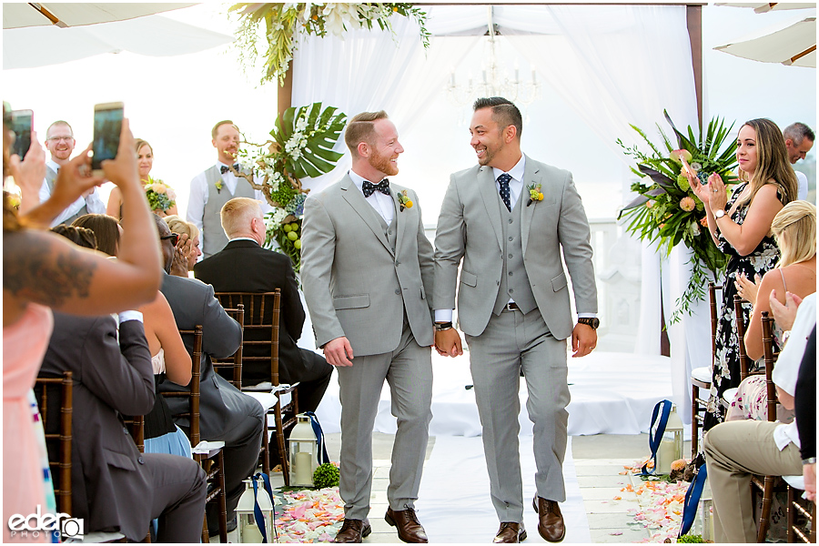 Laguna Beach Wedding ceremony at Occasions - recessional