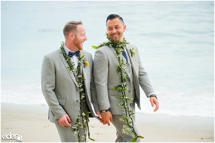 Laguna Beach Wedding ceremony at Occasions - couple portraits on beach