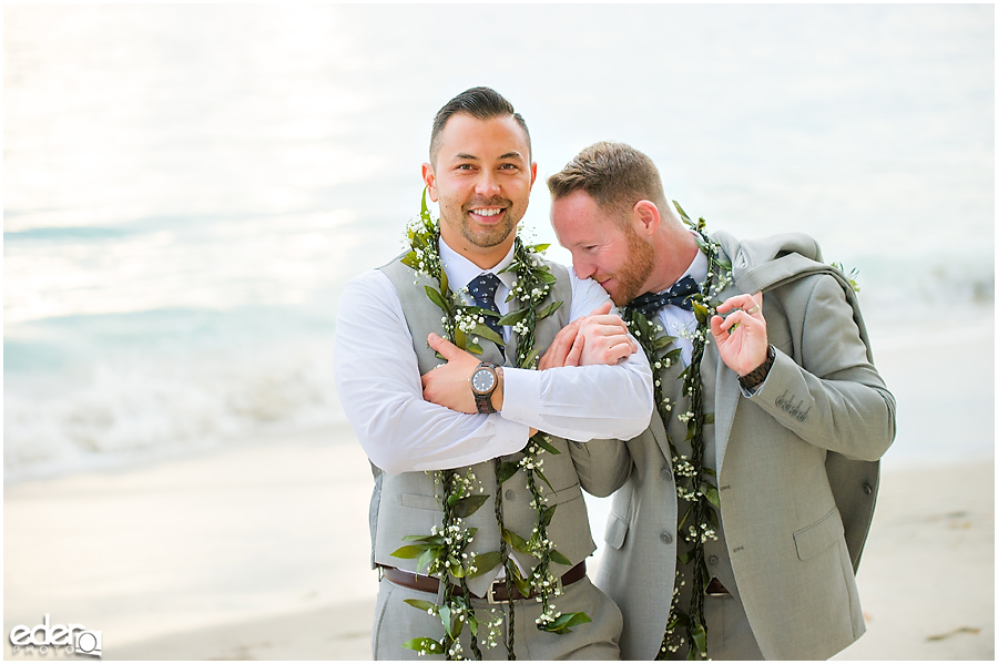 Laguna Beach Wedding ceremony at Occasions - couple portraits