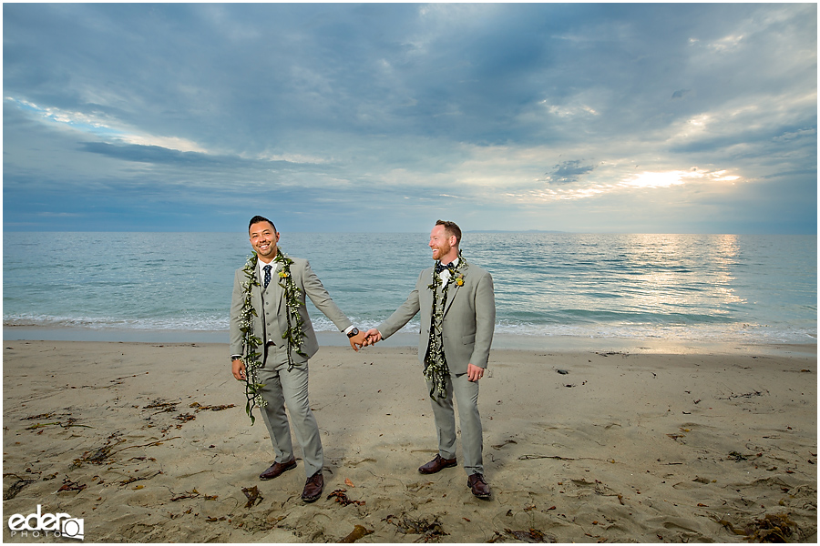 Laguna Beach Wedding ceremony at Occasions - sunset couple portraits