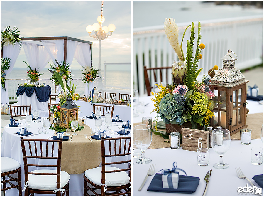Laguna Beach Wedding at Occasions - reception details