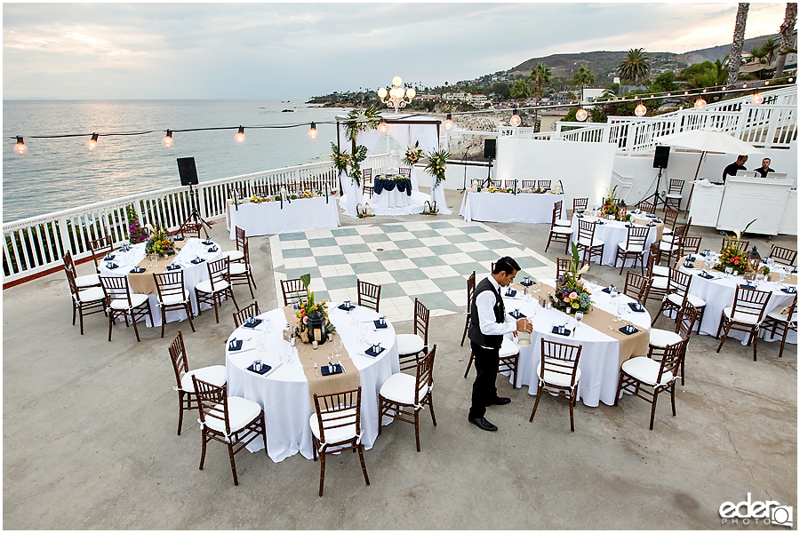 Laguna Beach Wedding ceremony at Occasions - reception details