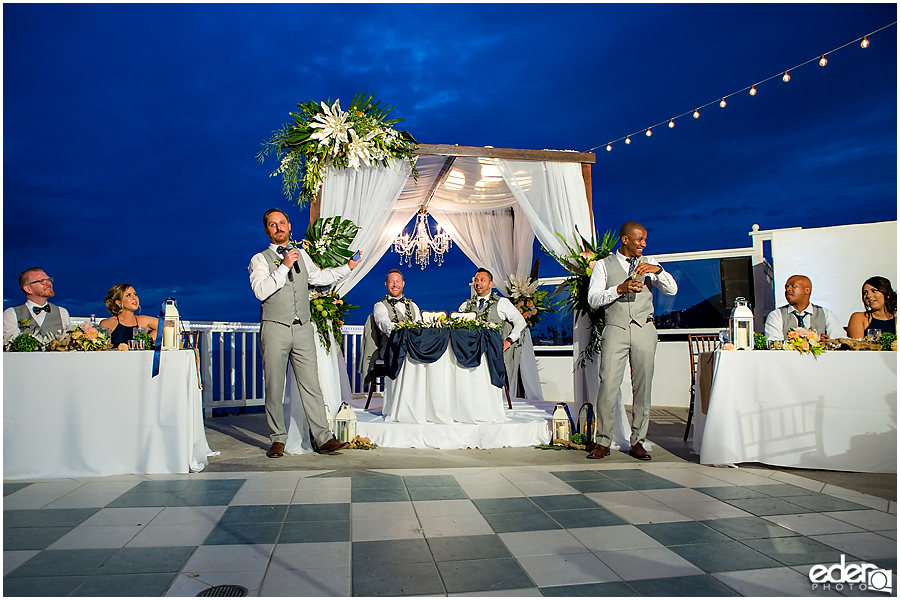 Laguna Beach Wedding at Occasions - toasts