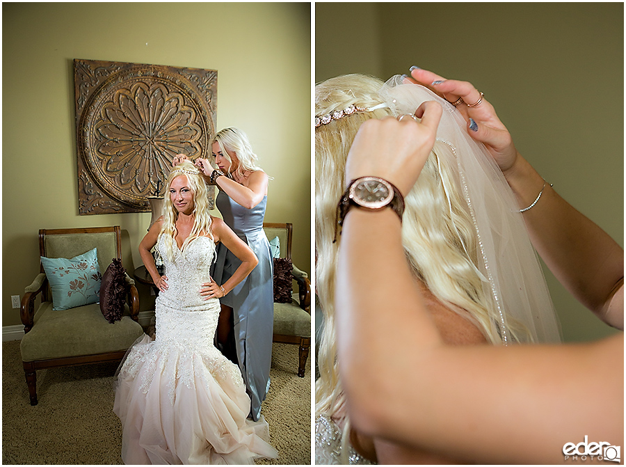 Private Estate Wedding: bride getting ready