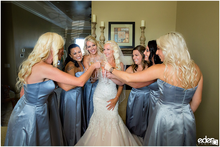 Private Estate Wedding: bridesmaid toast