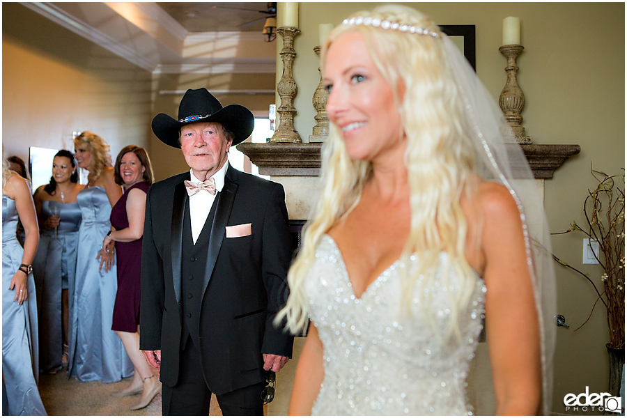 Private Estate Wedding: bride and father