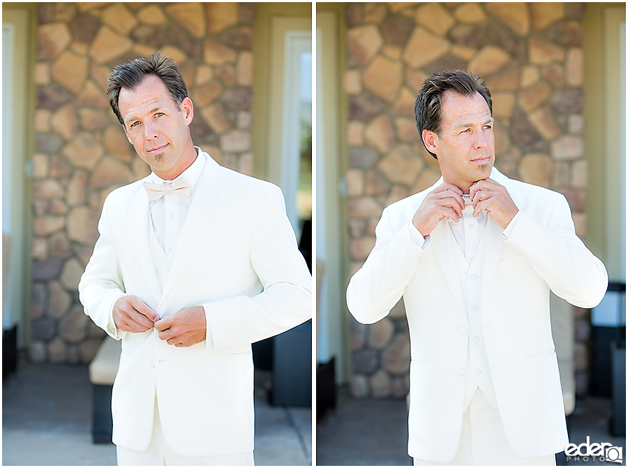 Private Estate Wedding: groom before ceremony