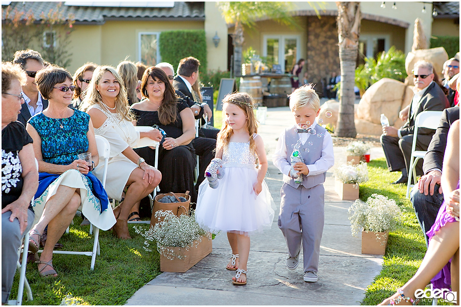 Private Estate Wedding Ceremony: flower girl