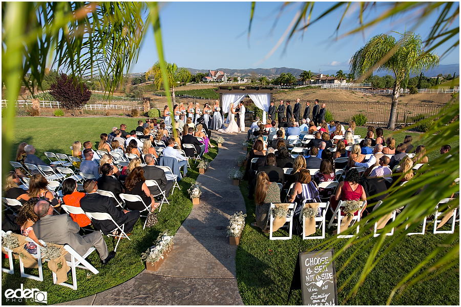 Private Estate Wedding Ceremony: wide photo