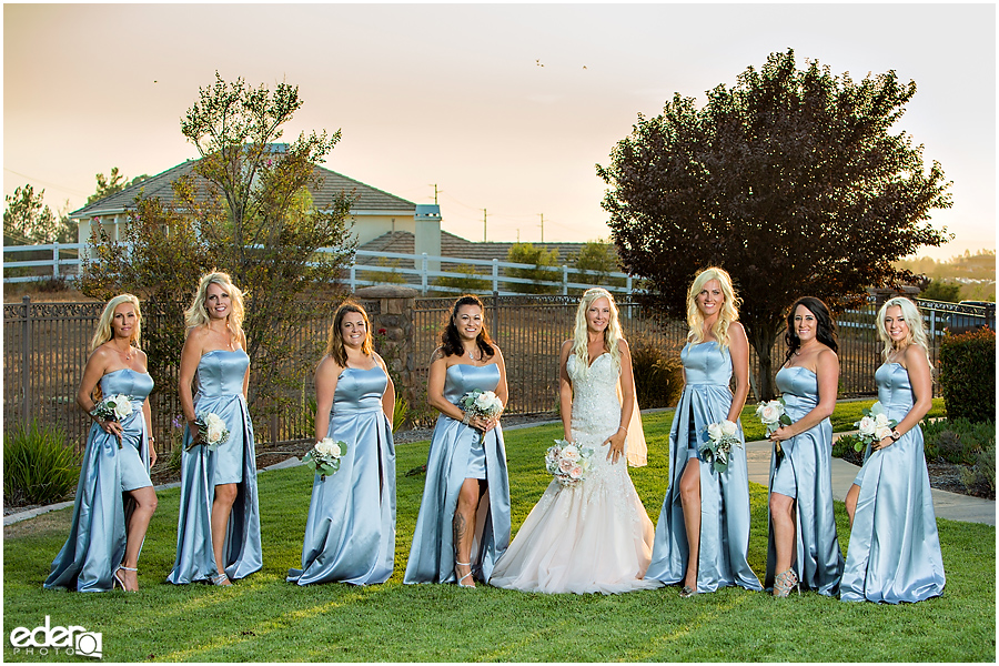 Private Estate Wedding Ceremony: bridesmaids