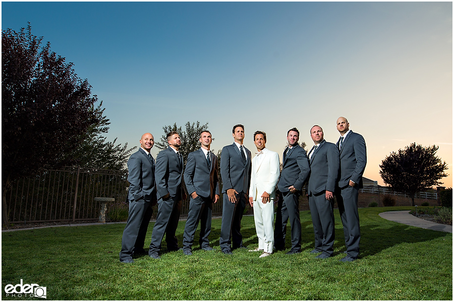Private Estate Wedding Ceremony: groomsmen