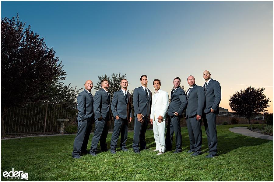 Private Estate Wedding Ceremony: groomsmen