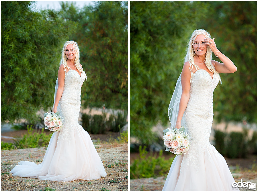 Private Estate Wedding Ceremony: bride portraits