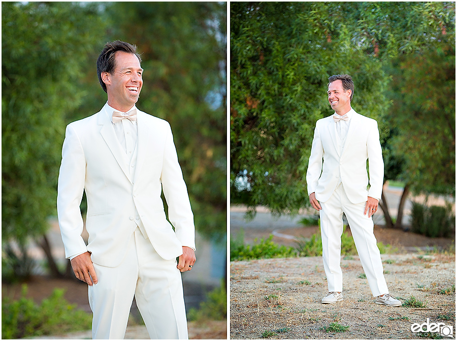 Private Estate Wedding Ceremony: groom portraits
