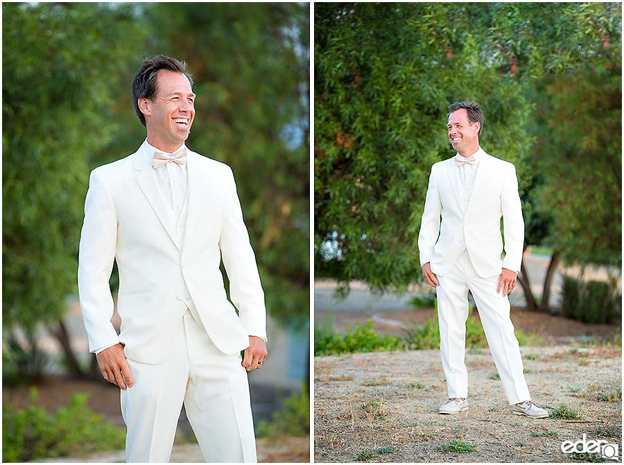Private Estate Wedding Ceremony: groom portraits