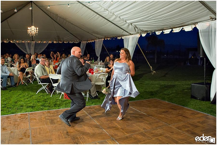Private Estate Wedding Reception: grand entrance dancing