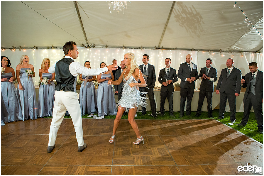 Private Estate Wedding Reception: first dance ballroom