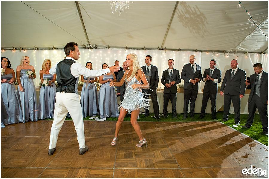 Private Estate Wedding Reception: first dance ballroom