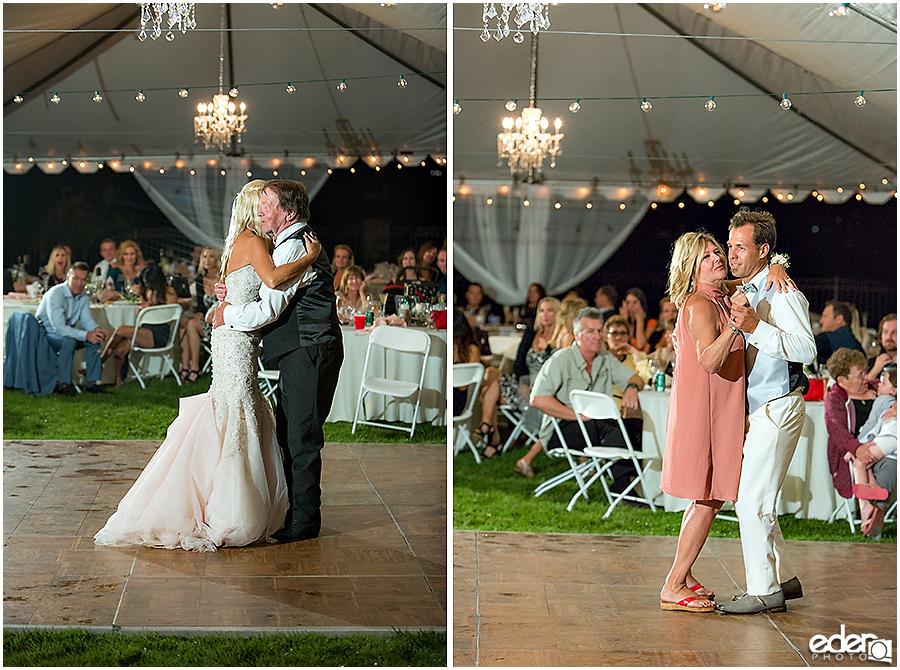 Private Estate Wedding Reception: parent dances