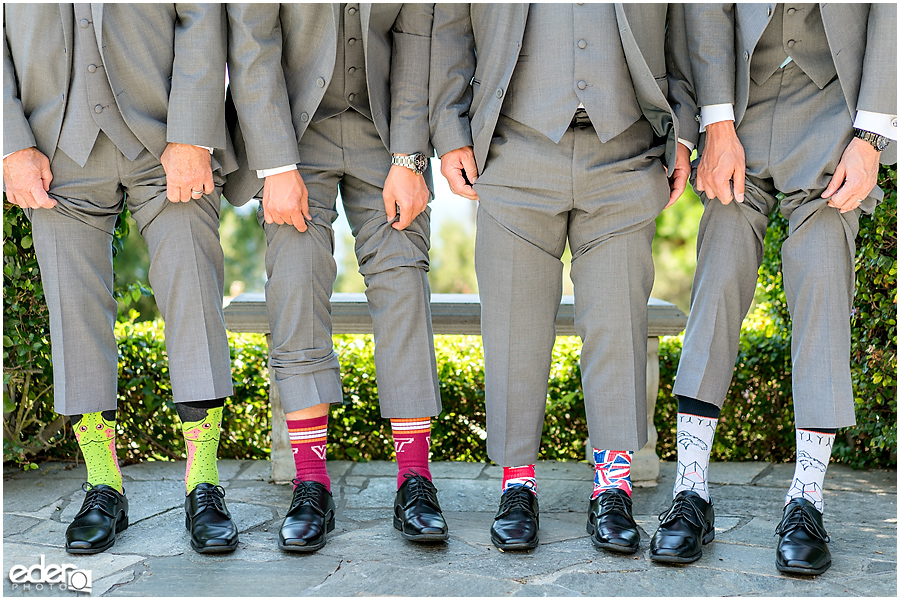 The Thursday Club Wedding - groomsmen socks