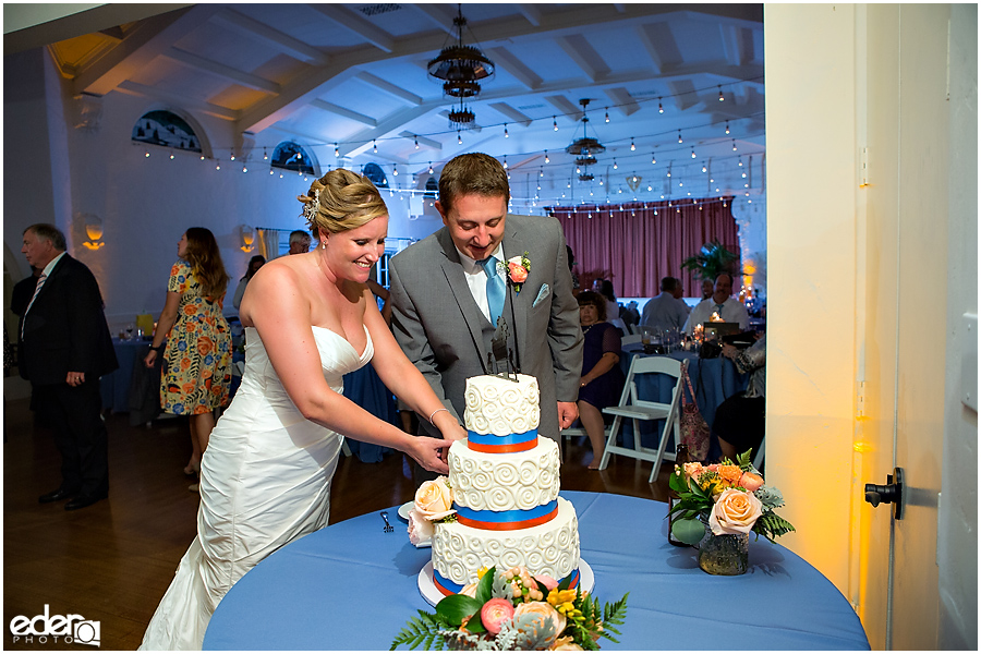 The Thursday Club Wedding - cake cutting