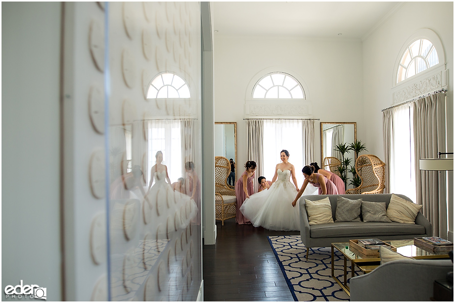 Wedding at The US Grant - photo of getting ready photos in Presidential Suite.