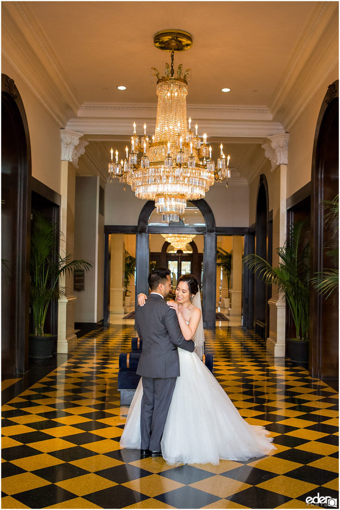 Wedding at The US Grant - photo of first look.