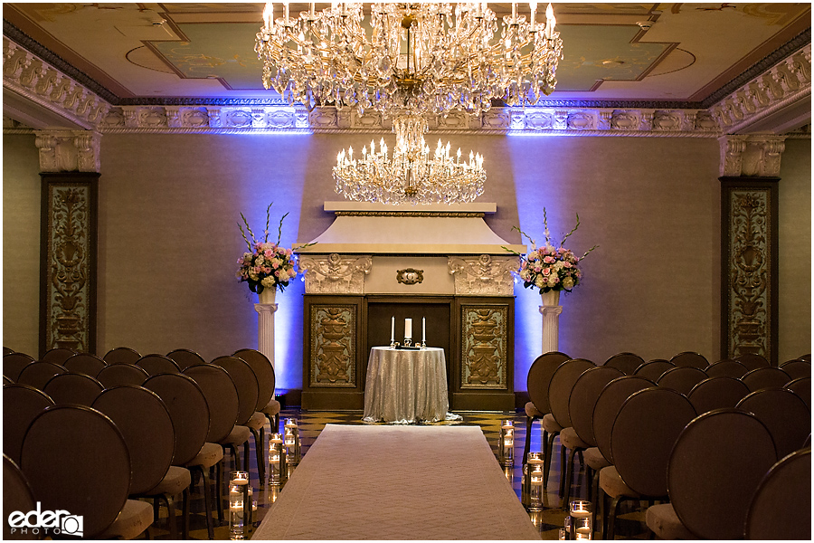 Wedding at The US Grant - photo of Crystal Ballroom.