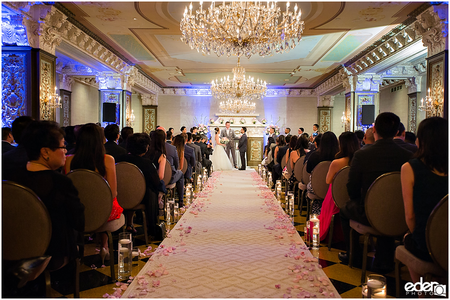 Wedding at The US Grant - photo of Crystal Ballroom Ceremony.