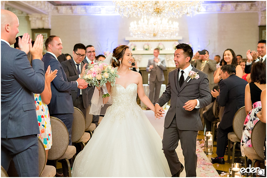 Wedding at The US Grant - photo of recessional.