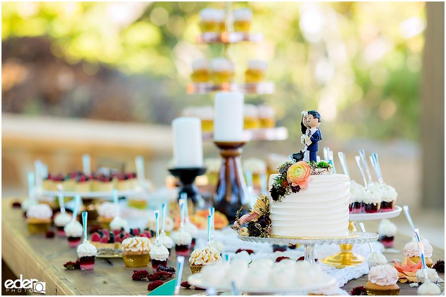 Dessert table for wedding