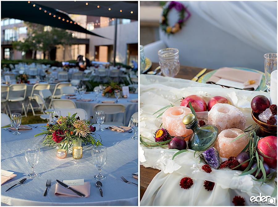 Francis Parker School Wedding - decor details
