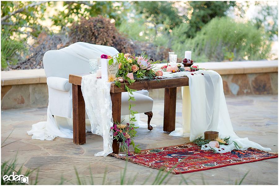 Francis Parker School Wedding - sweetheart table