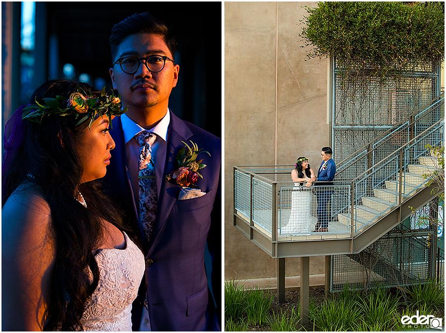 Francis Parker School Wedding - bride and groom portraits