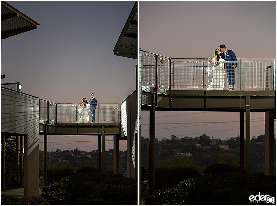 Francis Parker School Wedding - bride and groom sunset portraits