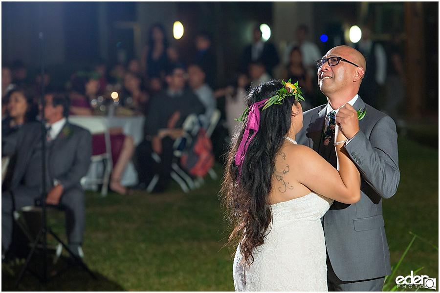 Francis Parker School Wedding reception father daughter dance