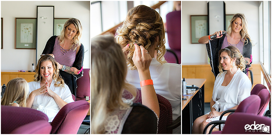 San Diego Natural History Museum Wedding - hairdresser photo