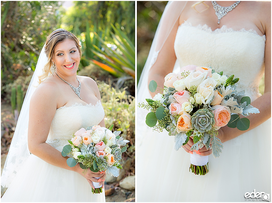 San Diego Natural History Museum Wedding - Bride in Cactus Garden.