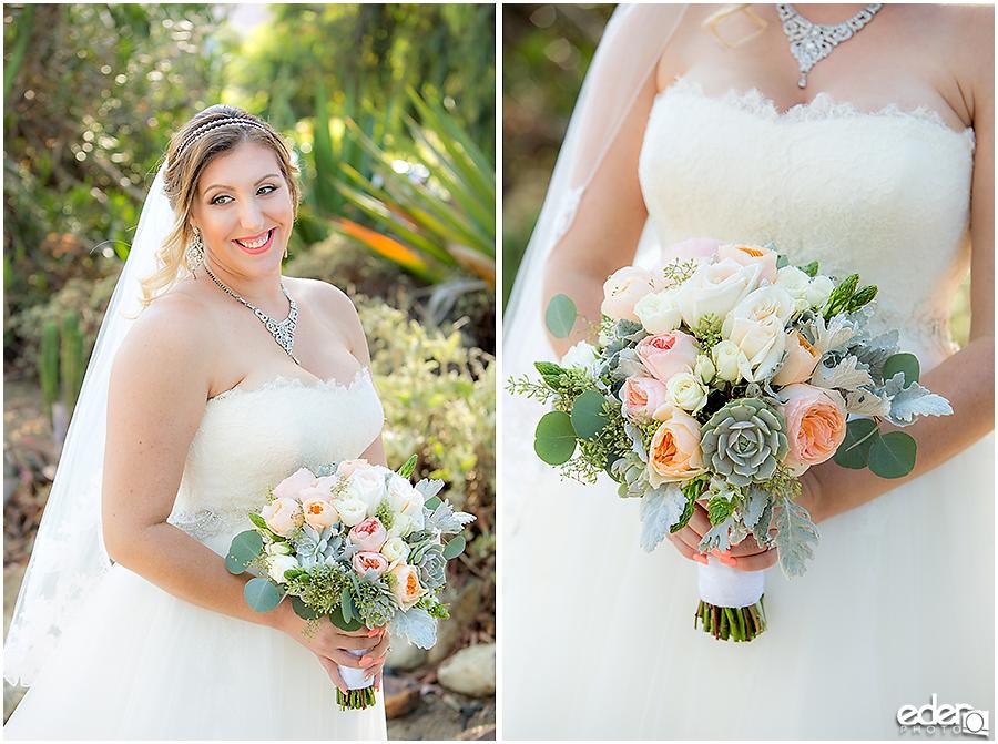 San Diego Natural History Museum Wedding - Bride in Cactus Garden.